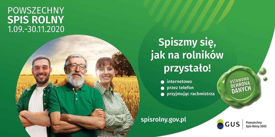 Powszechny spis rolny 1.09. - 30.11.2020